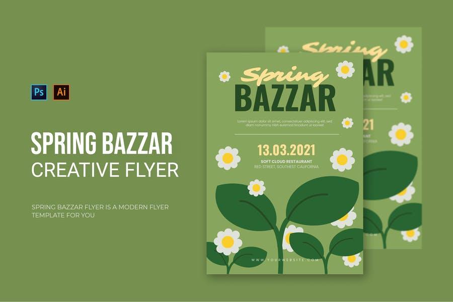Spring Bazzar Poster Template