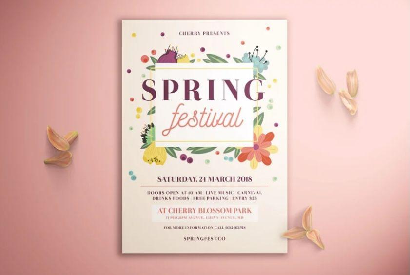 Spring Event Promotional Flyer