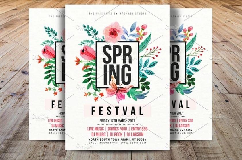 Spring Festival Event Flyer