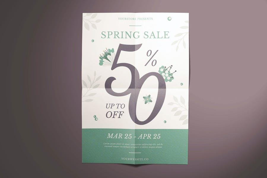 Spring Sale Promotional Flyer