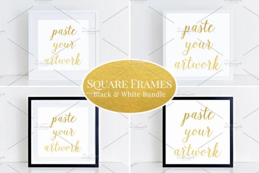 Square Frame Mockup PSD Bundle