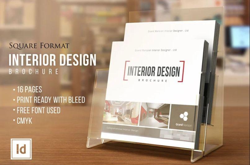Square Interior Brochure Templates