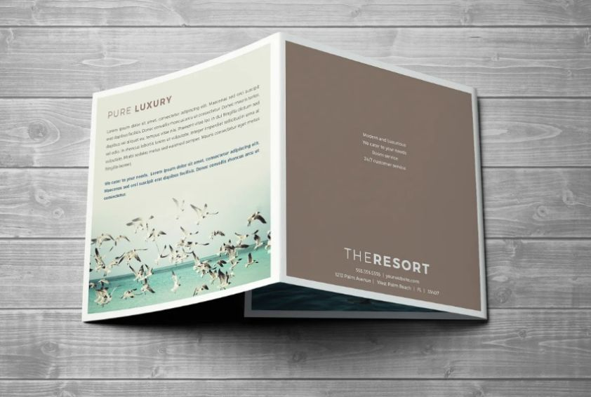 Square Resort Brochure Templates
