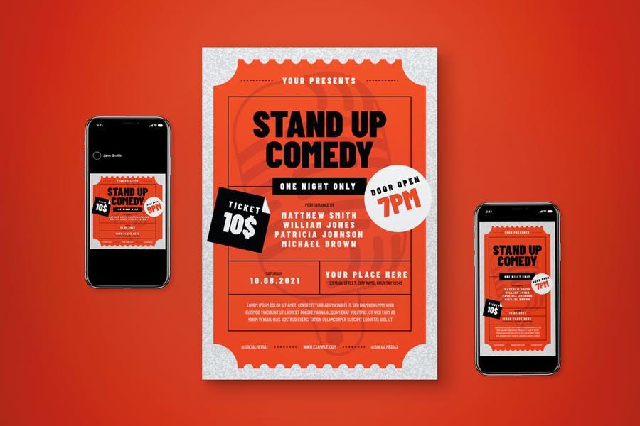 Stand Up Comdey Flyer Set