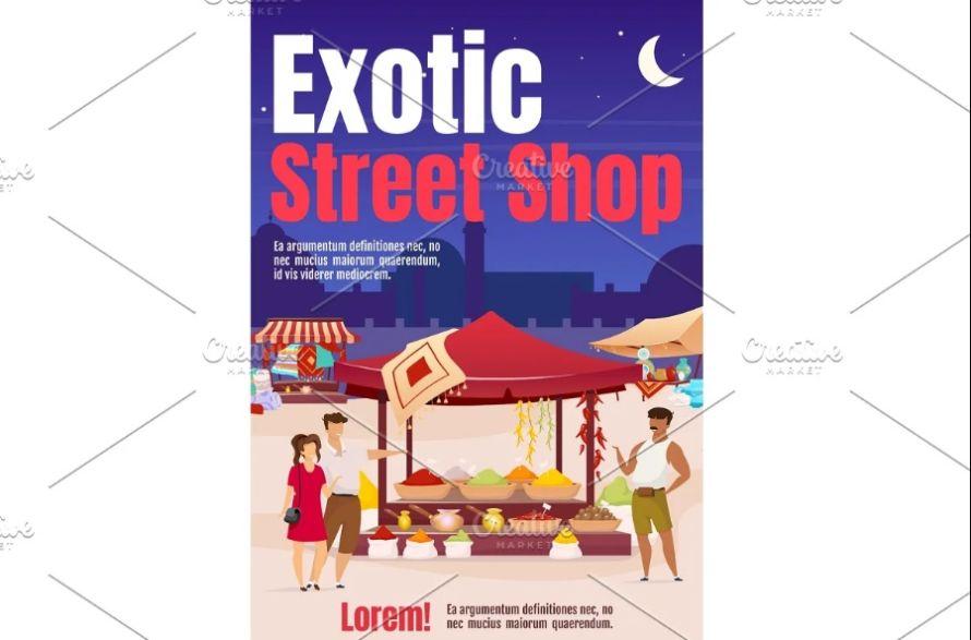 Street Market Poster Template