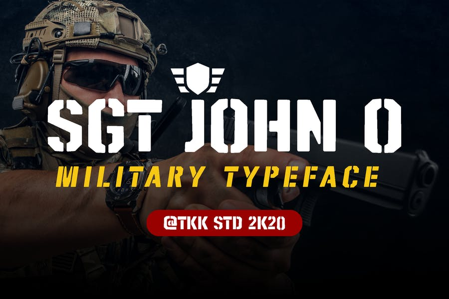 Strong Military Typeface