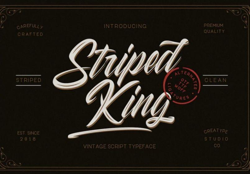 Stylish Handwritten Striped Fonts