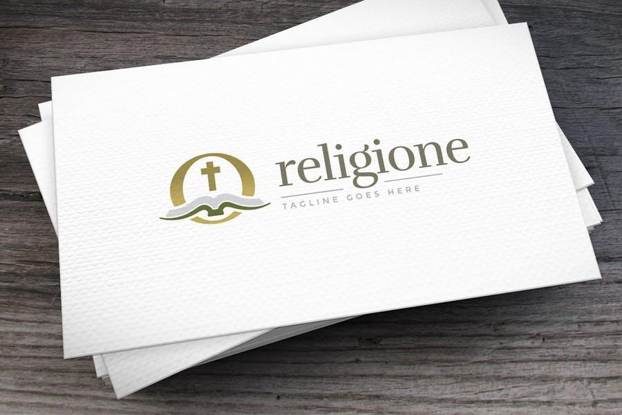 Stylish Religion Logo Idea