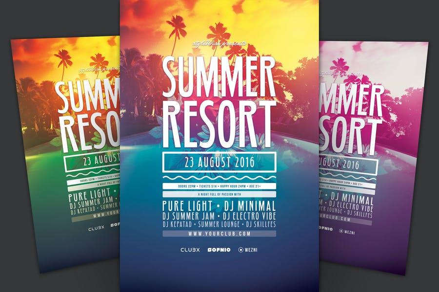 Summer Resort Party Flyer