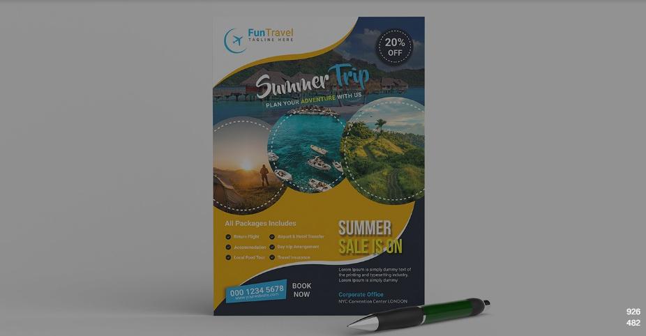 Summer Trip Flyer Design
