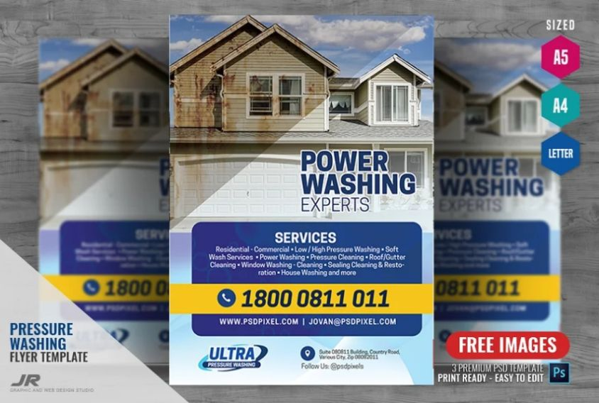Surface Cleaning Flyer Designs