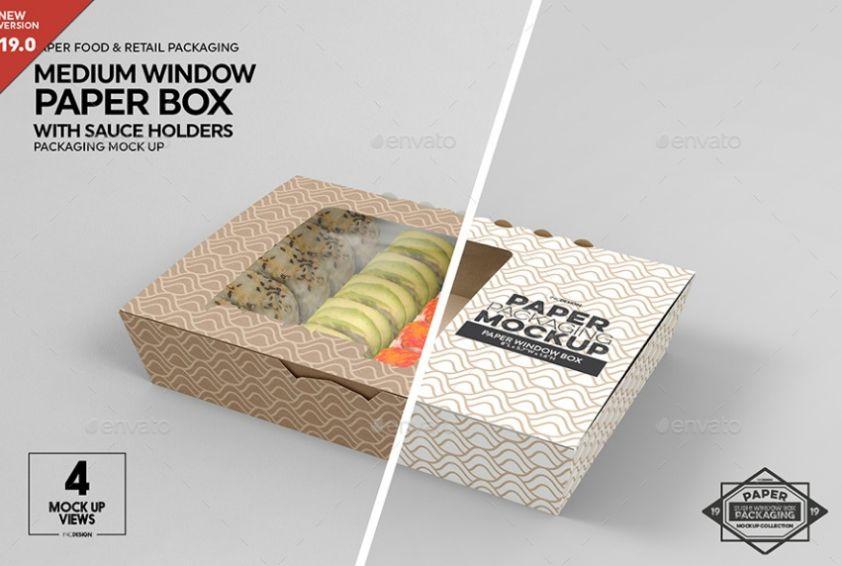 Sushi Box Mockup PSD