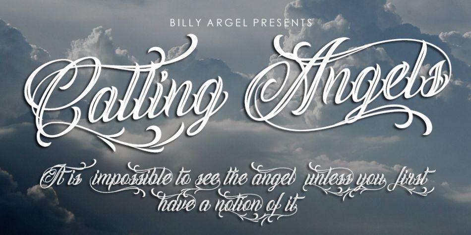 Swashes Angel Typefaces
