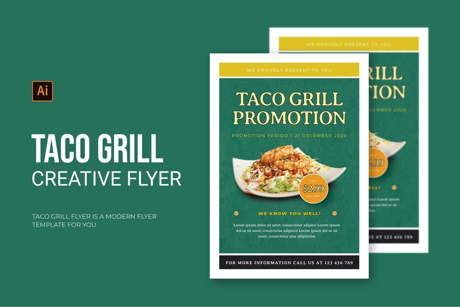 Taco Grill Flyer Template