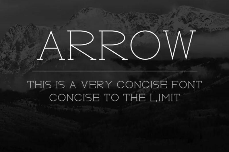 Thin Arrow Typeface Fonst