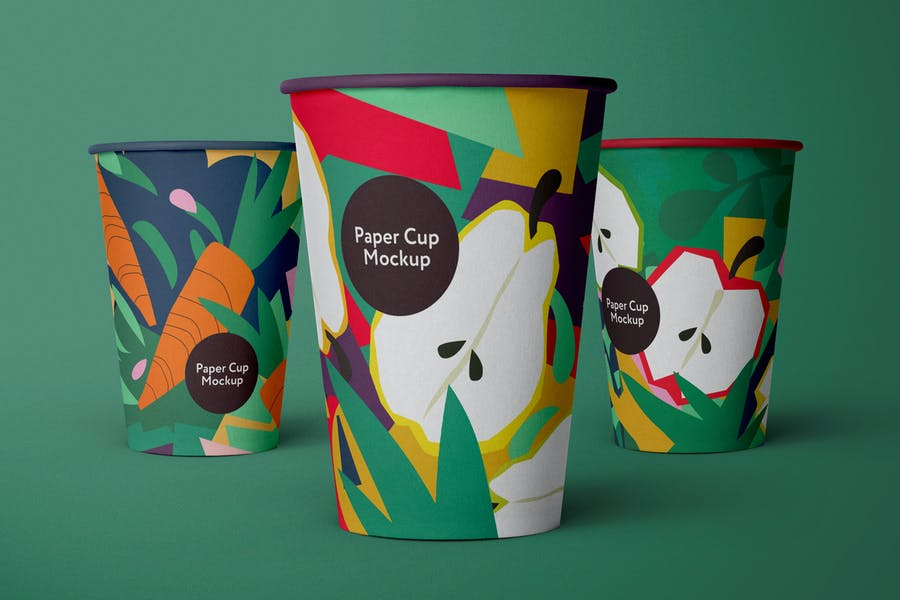Three Coffee Cup Mockups