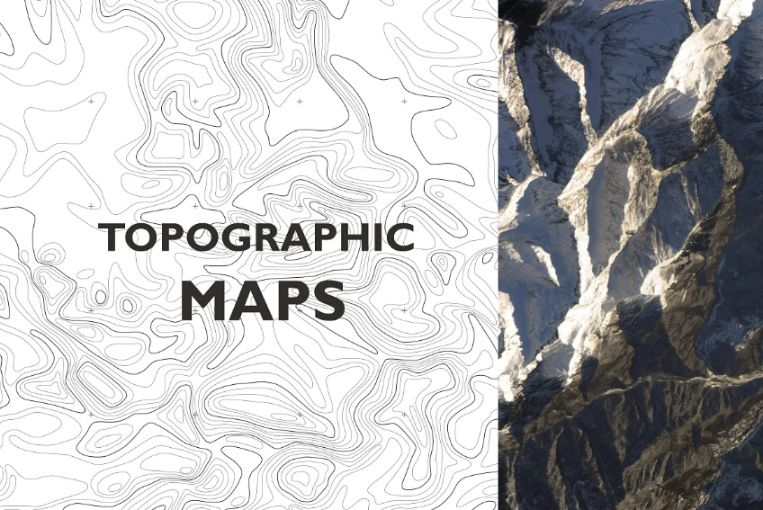 Topographic Maps Vector Texture