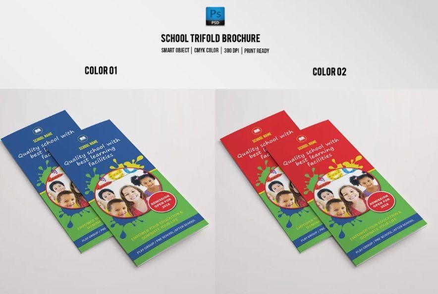 Tri Fold Junior School Brochure Templates