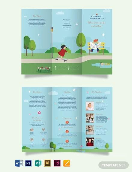 Tri Fold School Brochure Templates