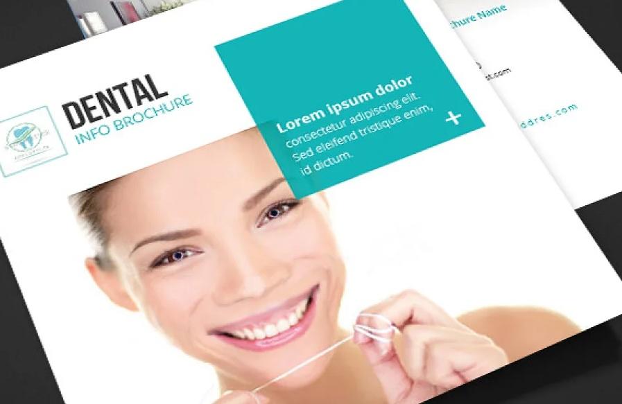 Tri Fold Square Dental Brochures