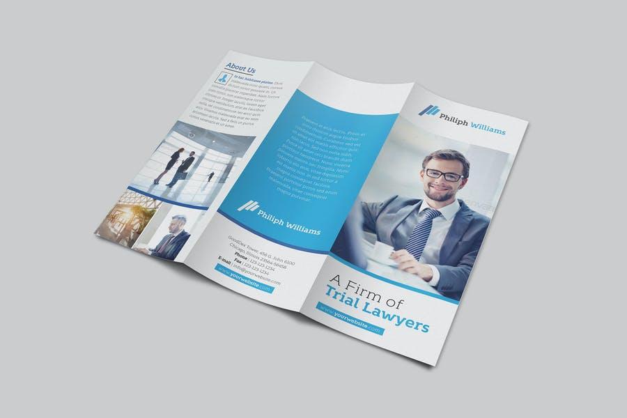 Tri Fold Trial Lawyer Brochures