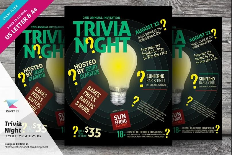 Trivia Game Promotional Flyer