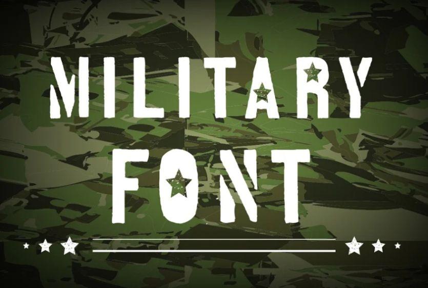 US Military Fonts
