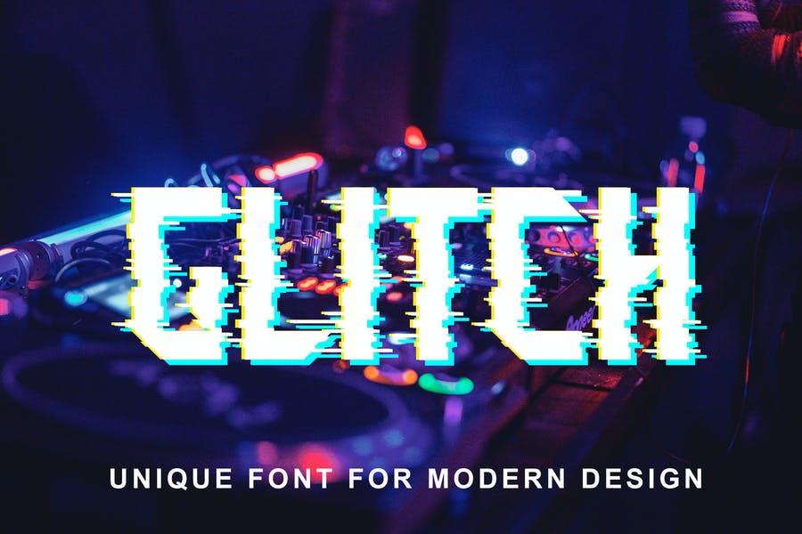 Unique Glitch Typeface