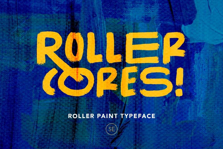 Unique Roller Paint Fonts