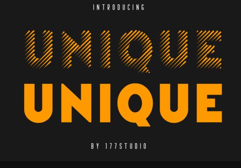 Unique Striped Typefaces