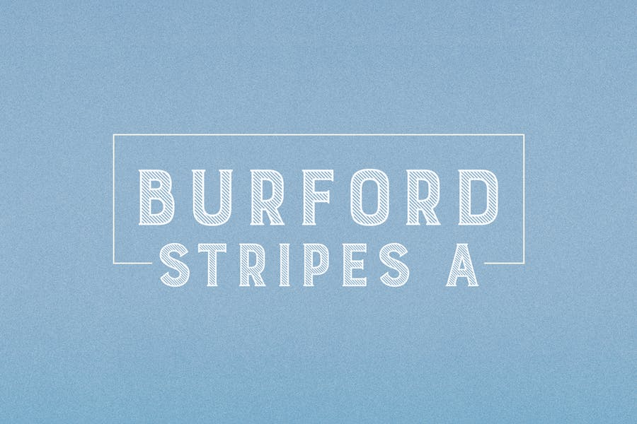 Uppercase Striped Fonts