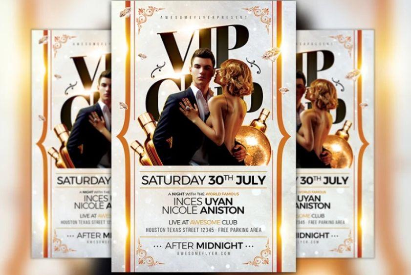 VIP Club Invite Flyer