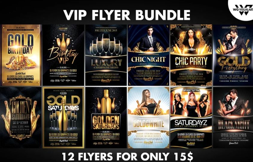 VIP Flyer Template Bundle