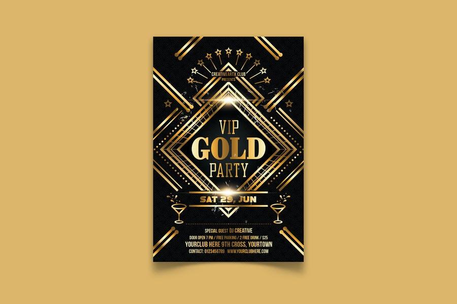 VIP Golden Party Flyer