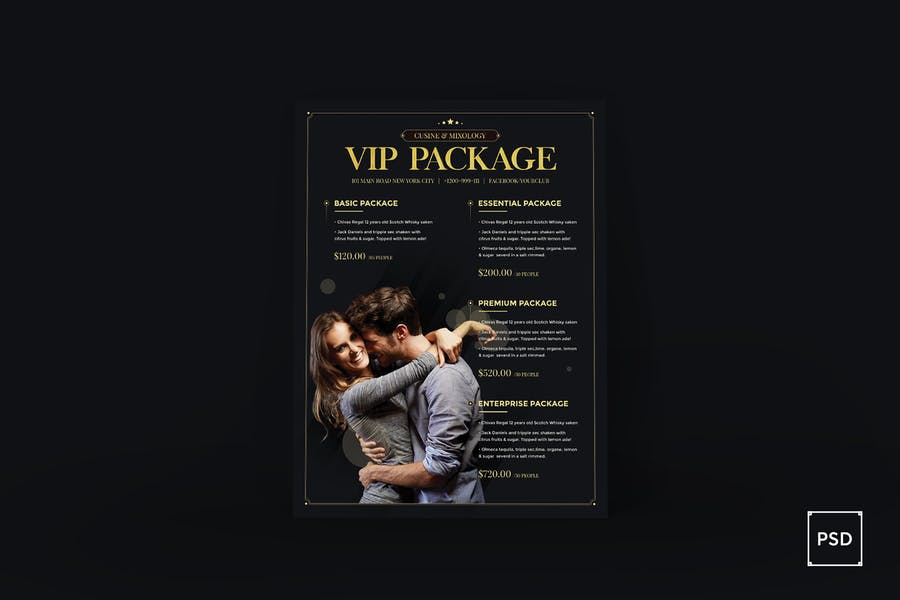 VIP Package Poster Flyer