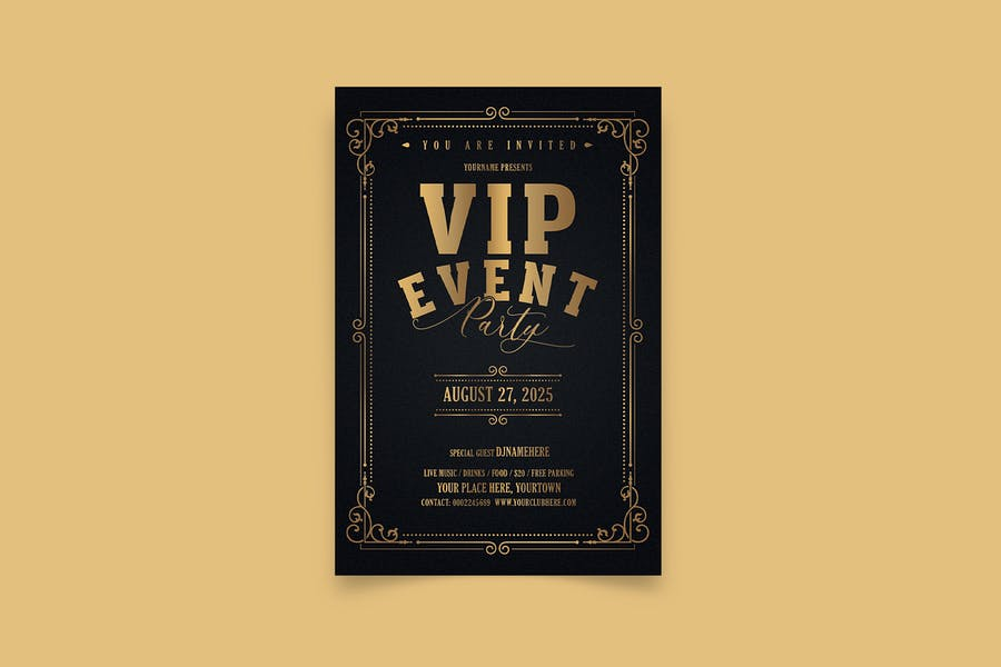 VIP Party Event Flyer