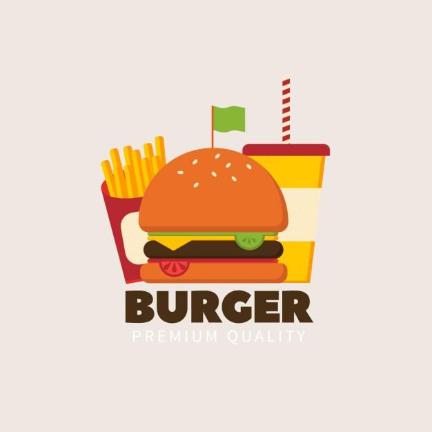 Vector Burger Logo Idea