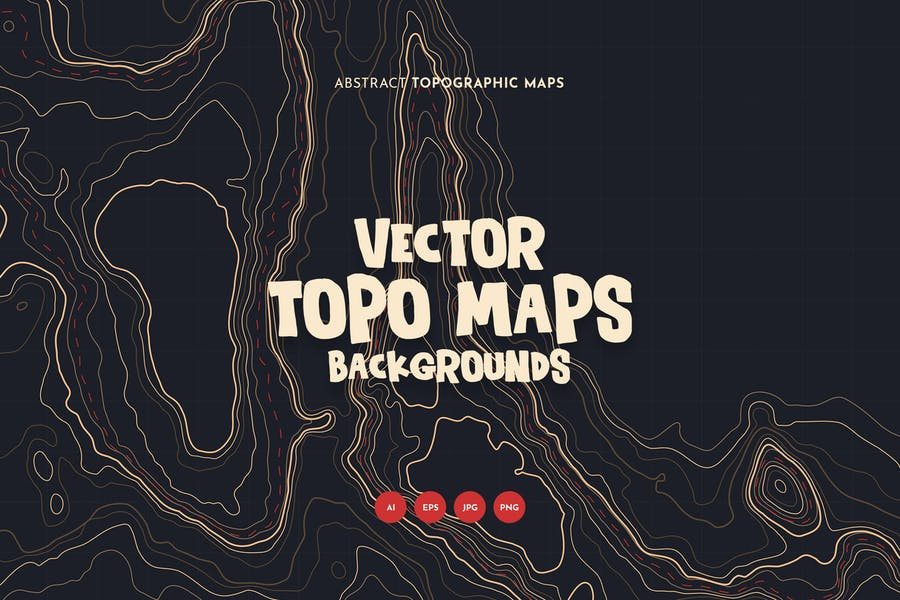 Vector Topo Map backgrounds