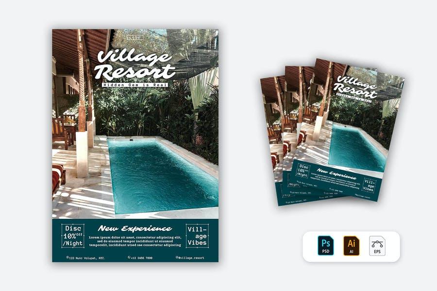 Village Resort Promotional Flyer