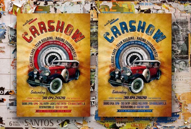 Vintage Car Aution Flyer