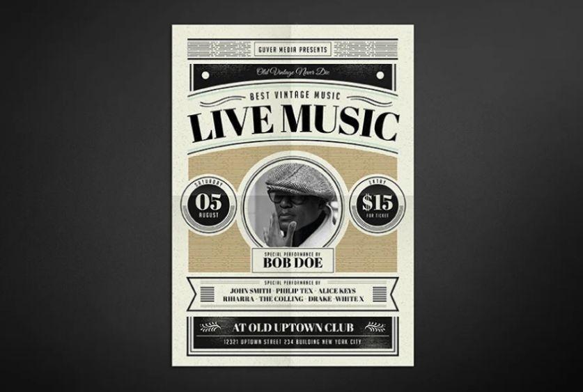 Vintage Concert Flyer Design