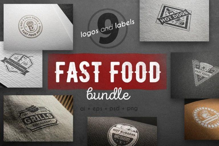 Vintage Fast Food Logo Templates
