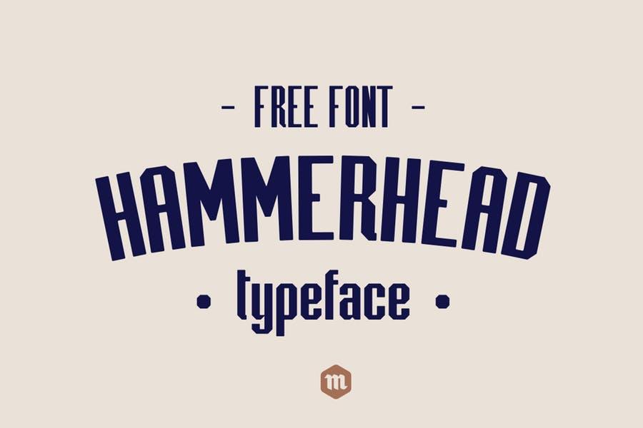 Vintage Hammerhead Typeface