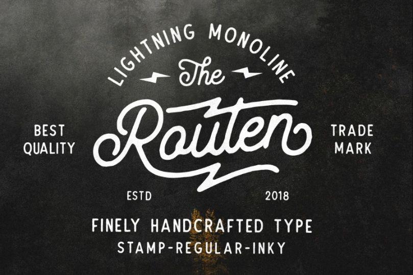 Vintage Lightning Typefaces