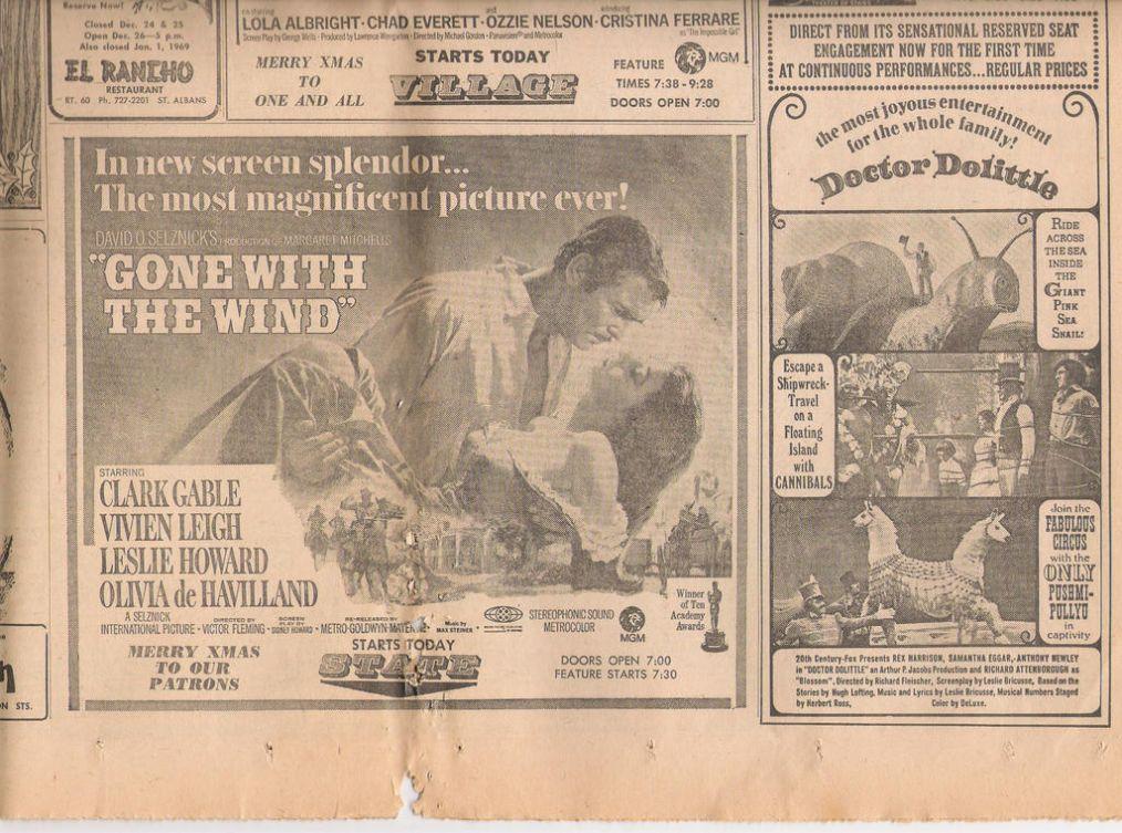 Vintage Movie Ad Texture
