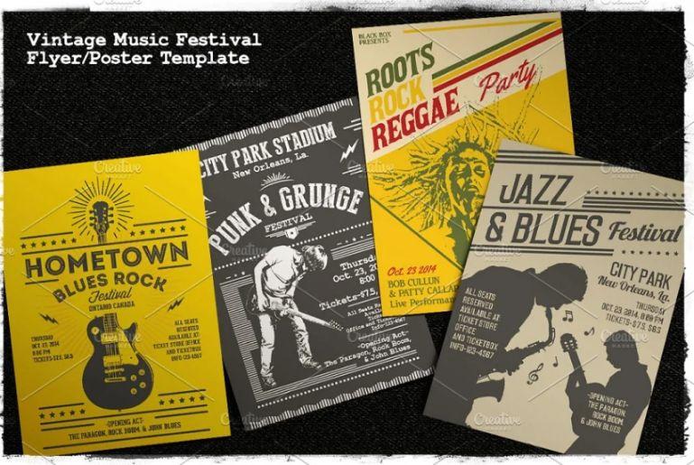 Vintage Music Festival Flyers