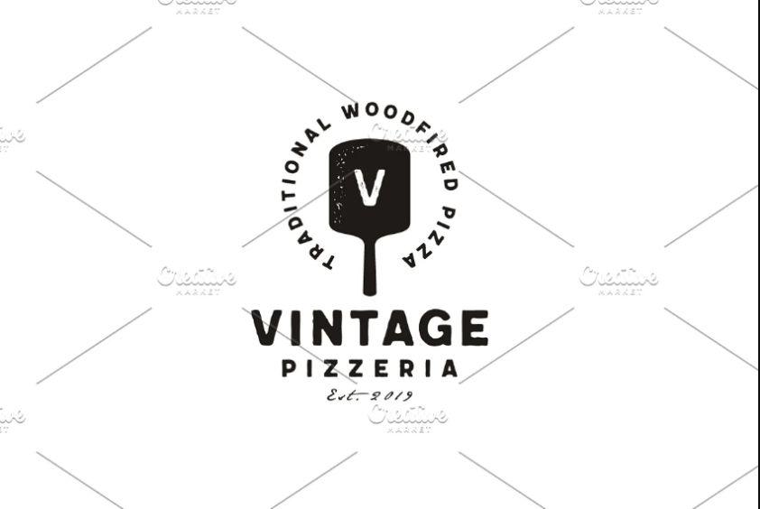 Vintage Pizzeria Logo Design