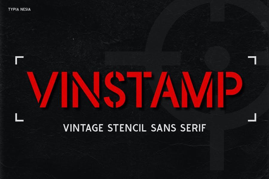 Vintage Stencil Logo Fonts