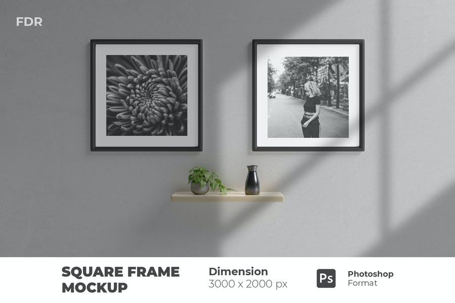Wall Frame Mockups PSD