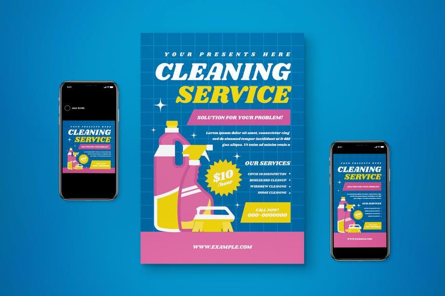 Washing Services Promotional Set